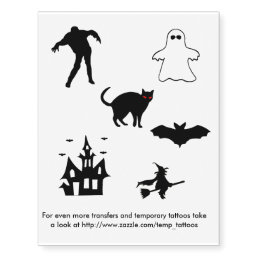 Halloween transfers and temporary tattoos