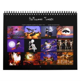 Halloween trata el calendario de pared original