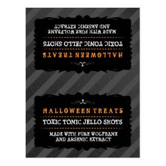 Halloween trata la tarjeta de la tienda de la postal