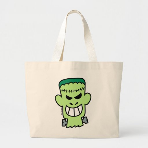 Halloween travieso Frankenstein Bolsa Tela Grande