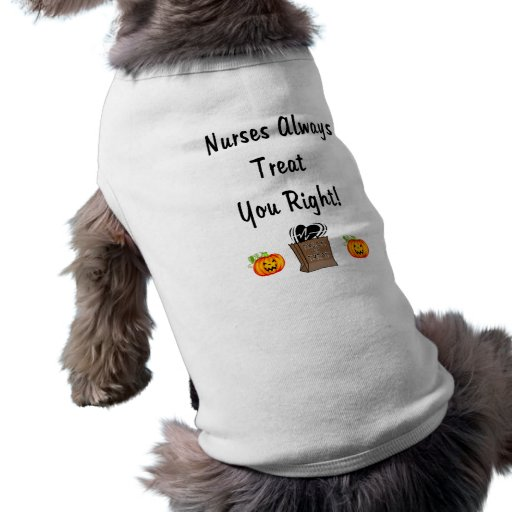 Halloween Treat For Nurses Doggie Tee Shirt