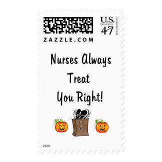 Halloween Treat For Nurses Postage