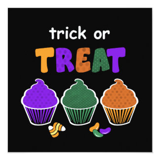 Halloween Treat Invites