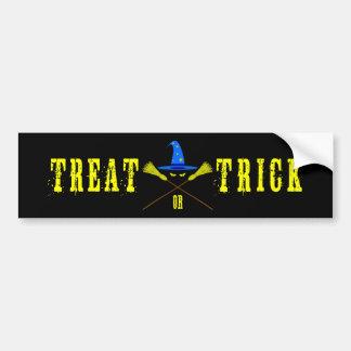 Halloween Treat Or Trick Black Bumper Sticker