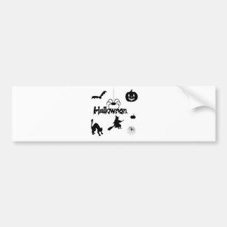halloween treat or trick bumper sticker