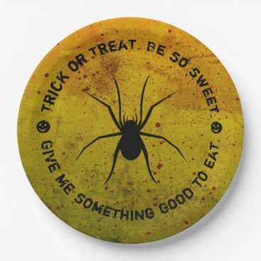 Halloween Themed Halloween Treat or Trick Spider Blood Paper Plates