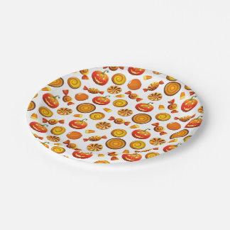 "Halloween Treat Paper Plates 7"""