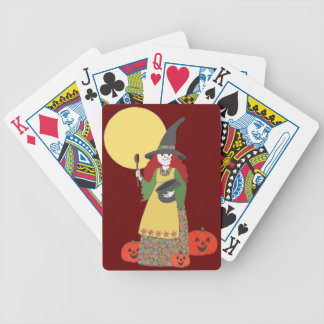 Halloween Treats Bicycle Playing Cards
