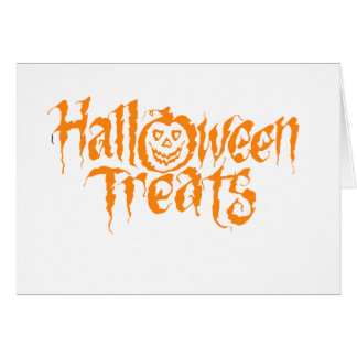 halloween treats card