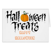 halloween treats card