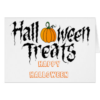 halloween treats cards