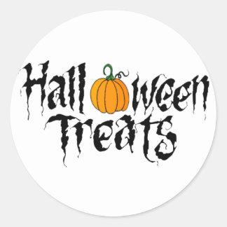 halloween treats classic round sticker
