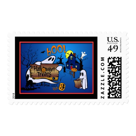 Halloween Treats Postage Stamps for Kids