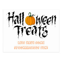 halloween treats postcard