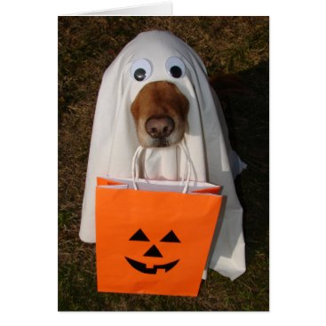 Halloween Themed Halloween Treats with Ghost Dog and Goodie Bag Card