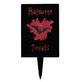 Halloween Treats with Vampire Bat Cake Topper