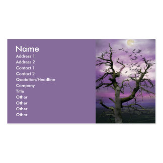 Halloween Tree Double-Sided Standard Business Cards (Pack Of 100)