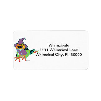 Halloween Tree Frog T Shirts and Gifts Label