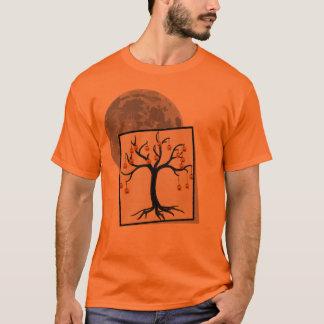 Halloween Tree Jack-o-Lanterns and Full Moon T-Shirt