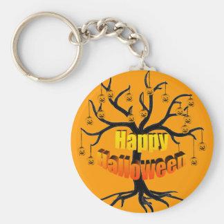 Halloween Tree Jackolanterns Keychain