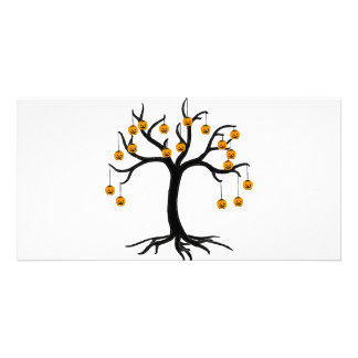 Halloween Tree Jackolanterns Photo Card