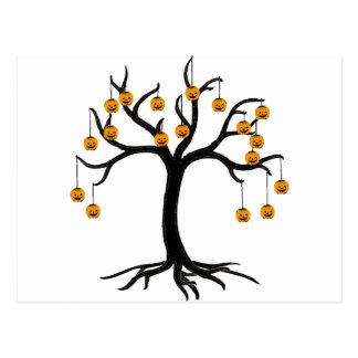 Halloween Tree Jackolanterns Postcard