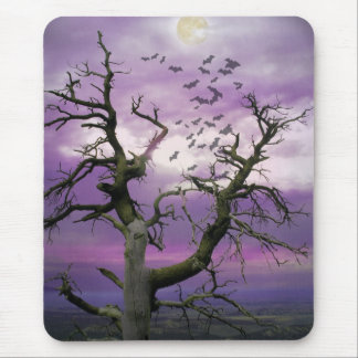 Halloween Tree Mouse Pad