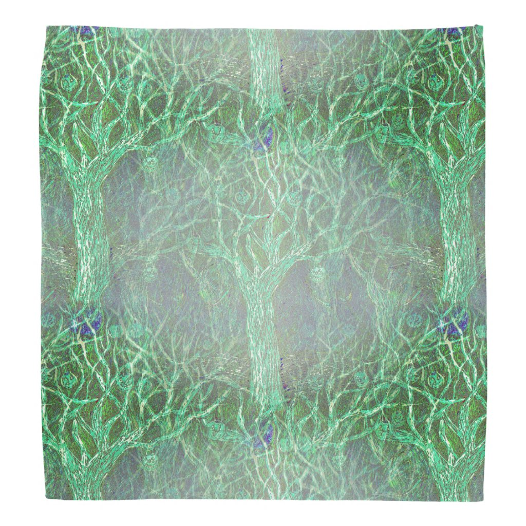 Halloween Trees on Bandana