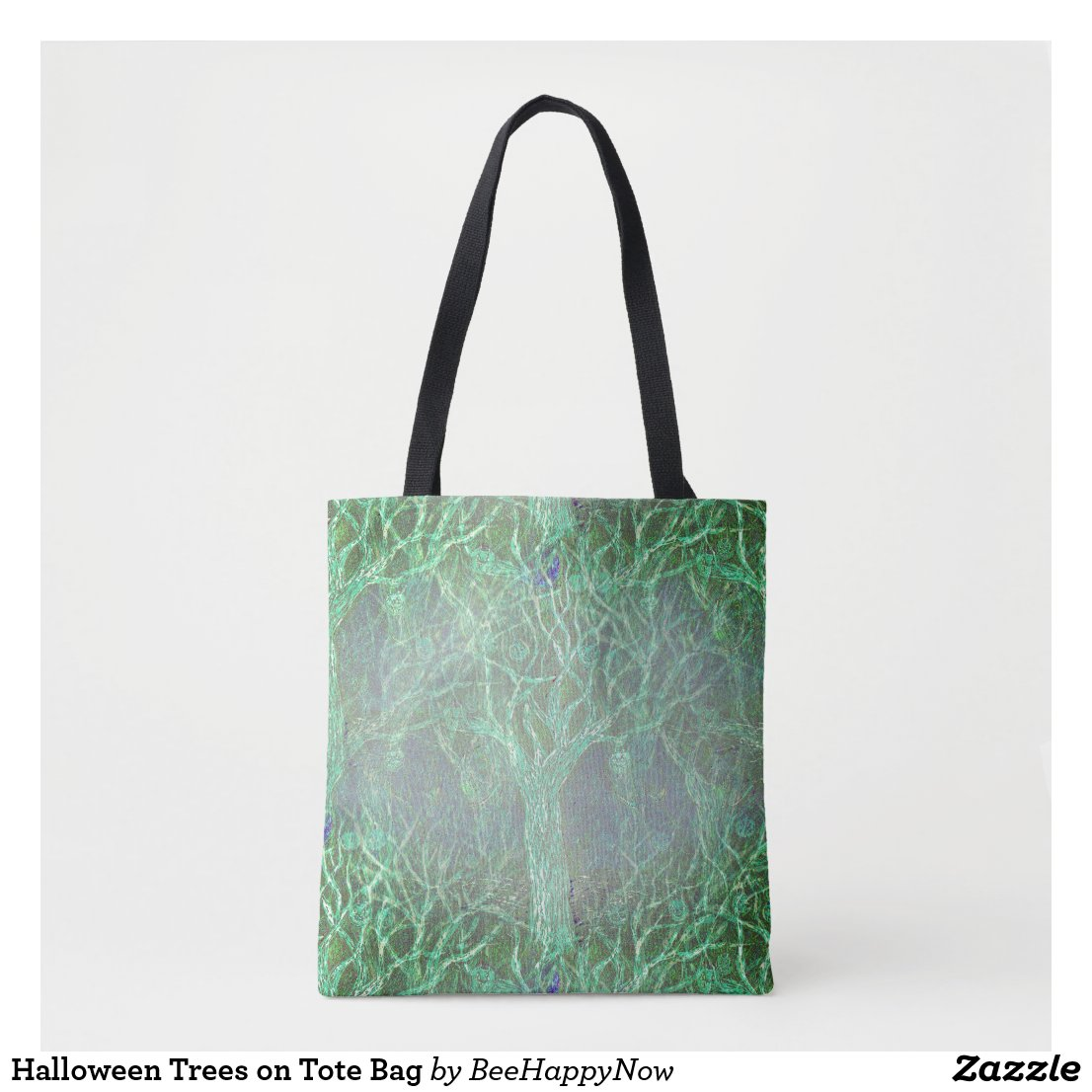 Halloween Trees on Tote Bag