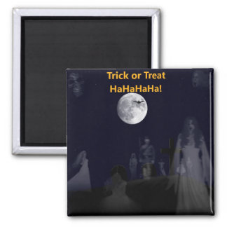 Halloween-Trick or Treat 2 Inch Square Magnet