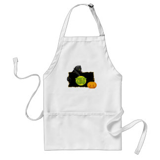Halloween trick or treat adult apron