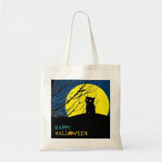 Halloween Trick or Treat Bag: Black Cat Tote Bag