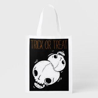 Halloween Trick or Treat Bag (twins skull)