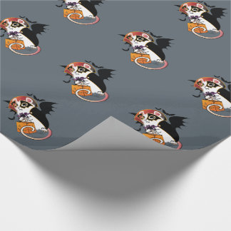 Halloween Trick or Treat Bat Mouse Wrapping Paper