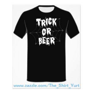 Halloween Trick Or Treat Beer Flyer Design