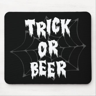 Halloween Trick Or Treat Beer Mouse Pad