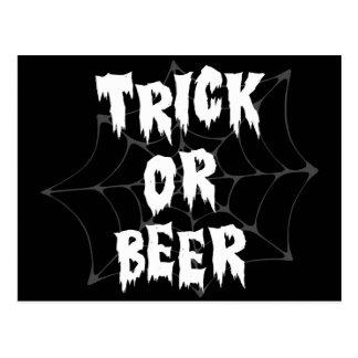 Halloween Trick Or Treat Beer Postcard