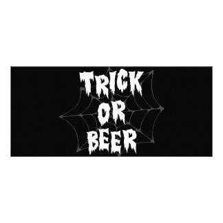 Halloween Trick Or Treat Beer Custom Rack Cards