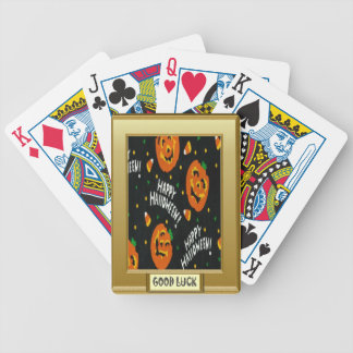 Halloween, Trick or treat Bicycle Playing Cards