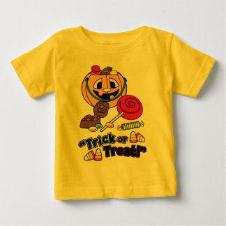 Halloween Trick or Treat Candy Corn Baby T-Shirt