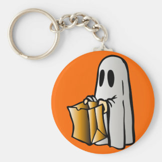 Halloween Trick or Treat Candy Ghost Keychain