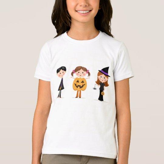 Halloween trick or treat cartoon kids t-shirt