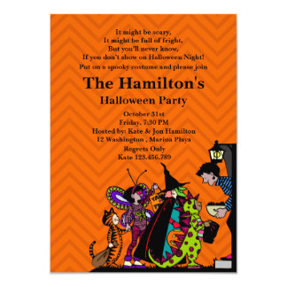 Halloween Trick or Treat Costume Party Personalized Invites