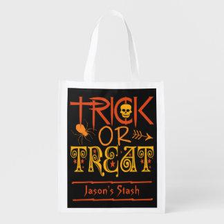 Halloween Trick or Treat custom reusable bag
