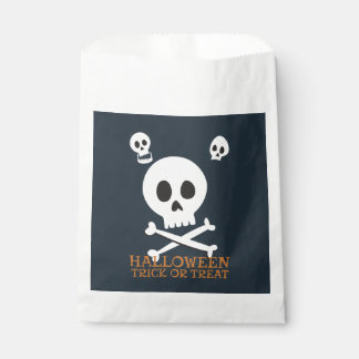 Halloween Trick or Treat Cute Skulls. Favor Bag