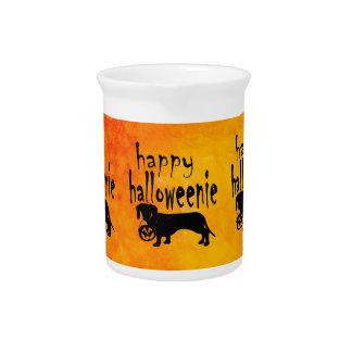 Halloween Trick or Treat Dachshund Beverage Pitcher