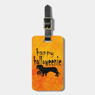 Halloween Trick or Treat Dachshund Luggage Tag