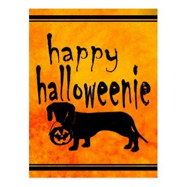 Halloween Themed Halloween Trick or Treat Dachshund Postcard