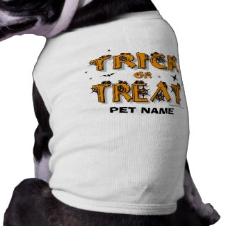 Halloween - Trick or Treat Dog Shirt (#8)