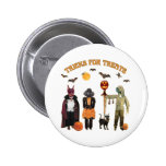 Halloween Trick or Treat Dogs 2 Inch Round Button